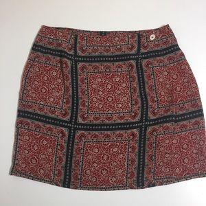 Dresses & Skirts - Oriental print overlapping wrap mini skirt